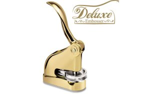 EMBOSSING DESK SEAL SHINY DELUXE GOLD D41mm